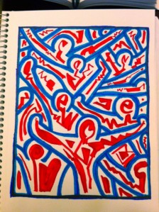 """after keith"" (haring) by devi laskar"
